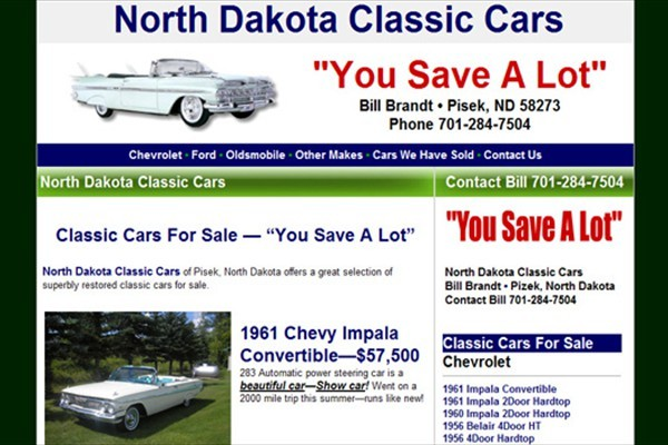 Classic Automobile and Collector Car Dealer - Pisek, North Dakota